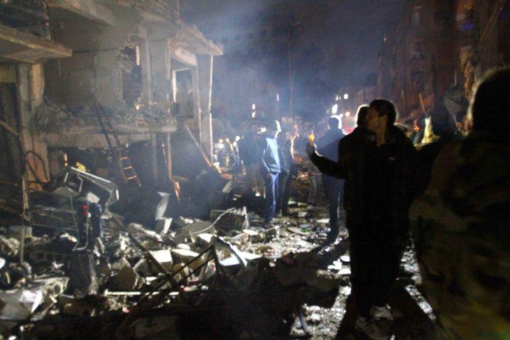 Sayyida Zaynab, ein Vorort von Damaskus, nach einem Terroranschlag