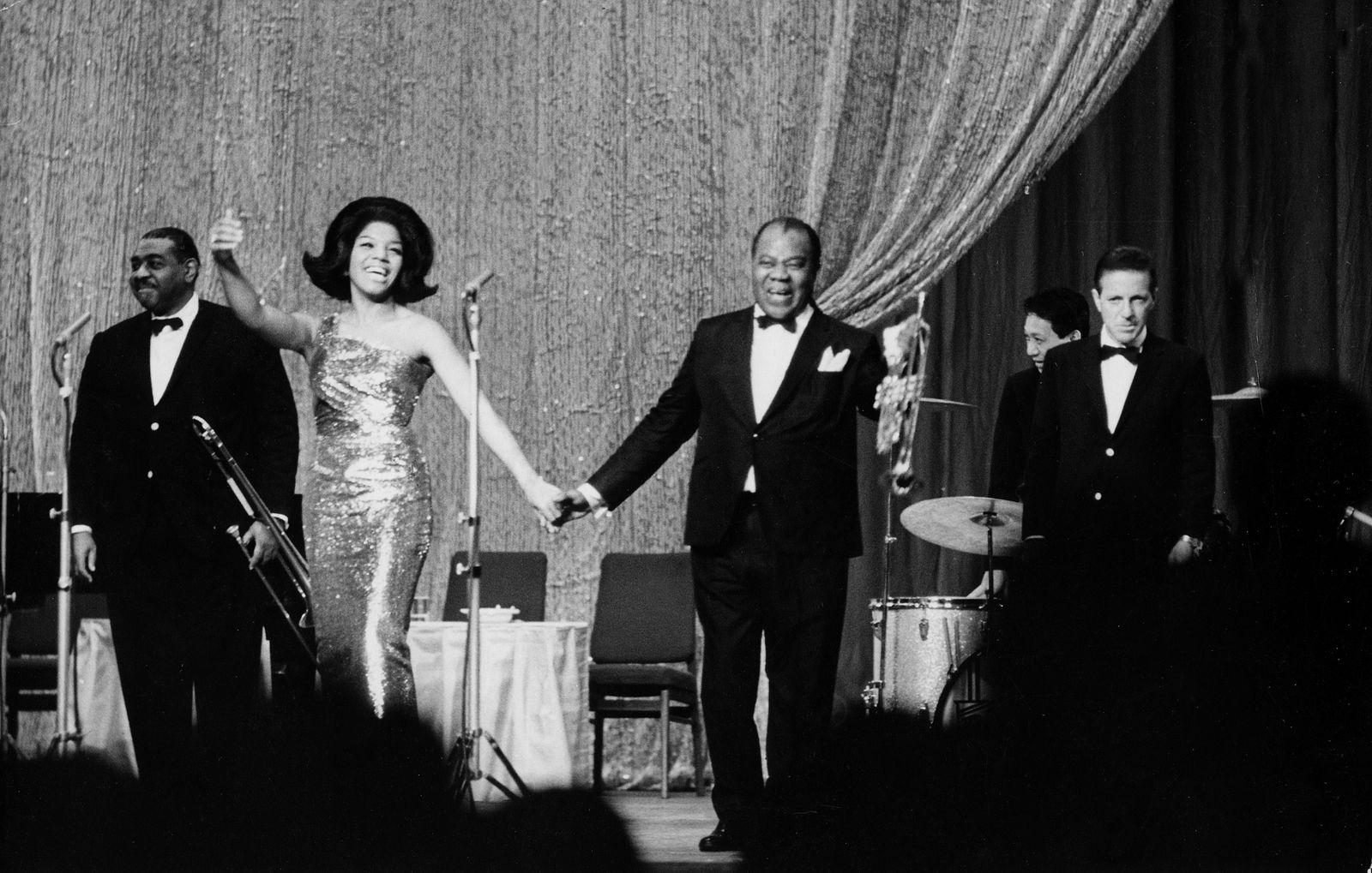 Armstrong, Louis - Jazztrompeter, USA - im Friedrichstadtpalast, Berlin