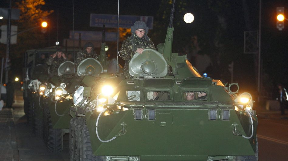 Ukrainische Armee: Militärübung in Kiew