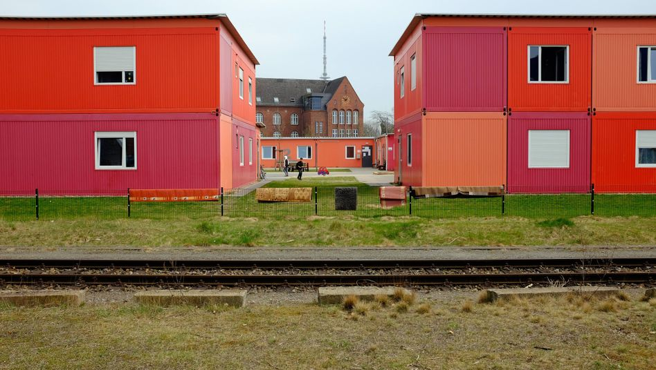 Flüchtlingsunterkunft in der Bremer Überseestadt