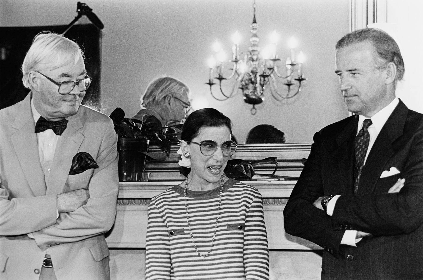 Clarence Thomas, Sen. Biden, and Danforth in Biden's office
