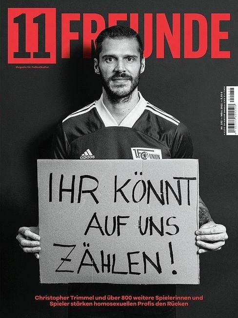 Mehr als 800 Fußballerinnen und Fußballer sicherten in dieser »11 Freunde«-Ausgabe homosexuellen Kollegen ihre Unterstützung zu