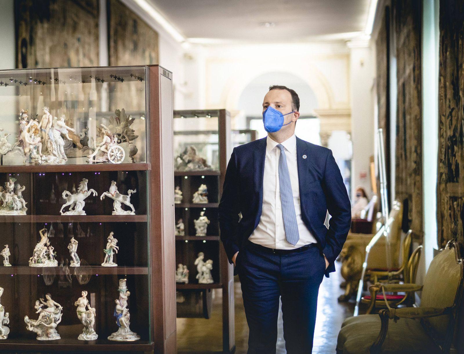 Bundesgesundheitsminister Jens Spahn (CDU) im Rahmen des G20 Treffens der Gesundheitsminister in Rom am 05.09.2021. Rome
