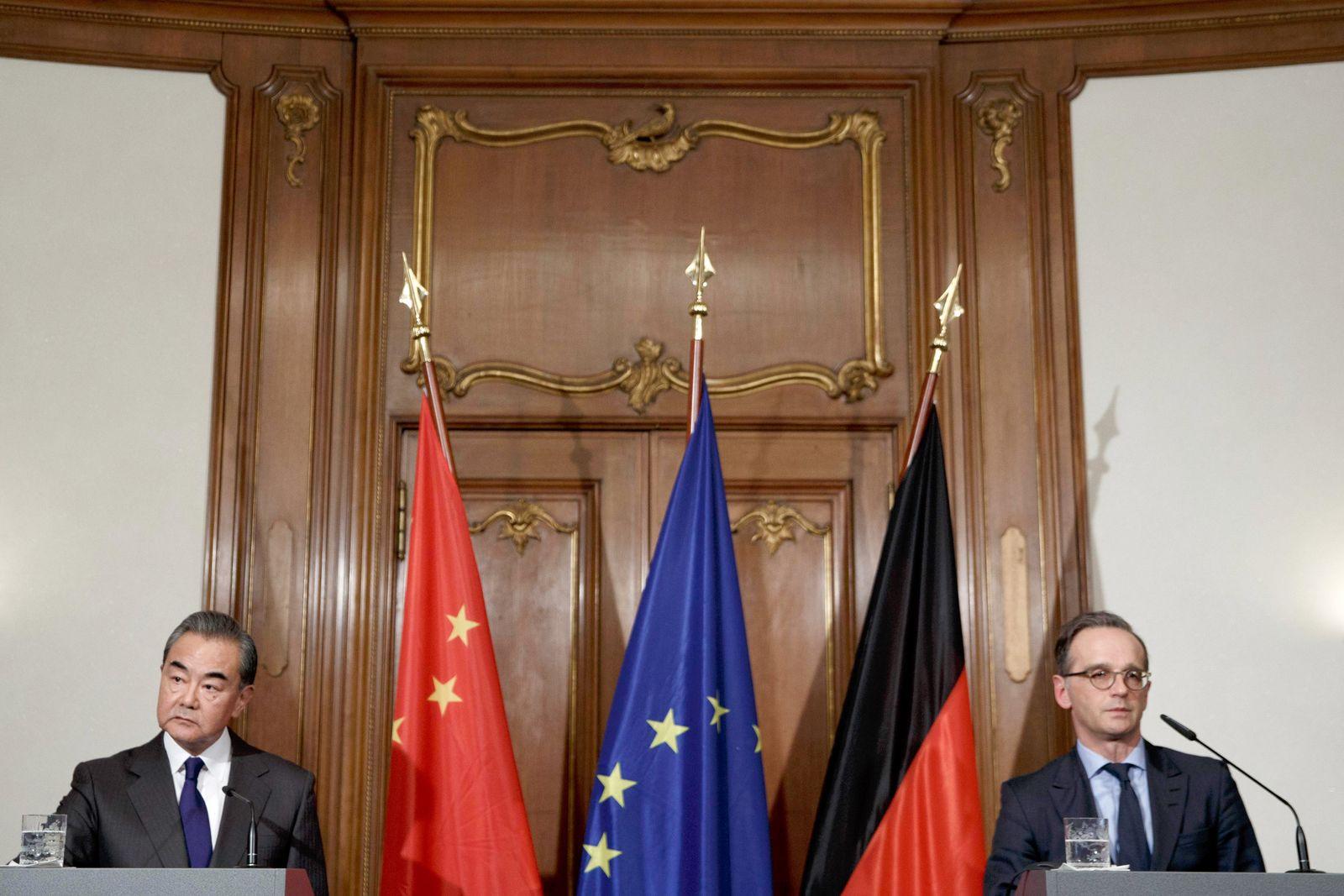 Außenminister Maas empfängt chinesischen Amtskollegen