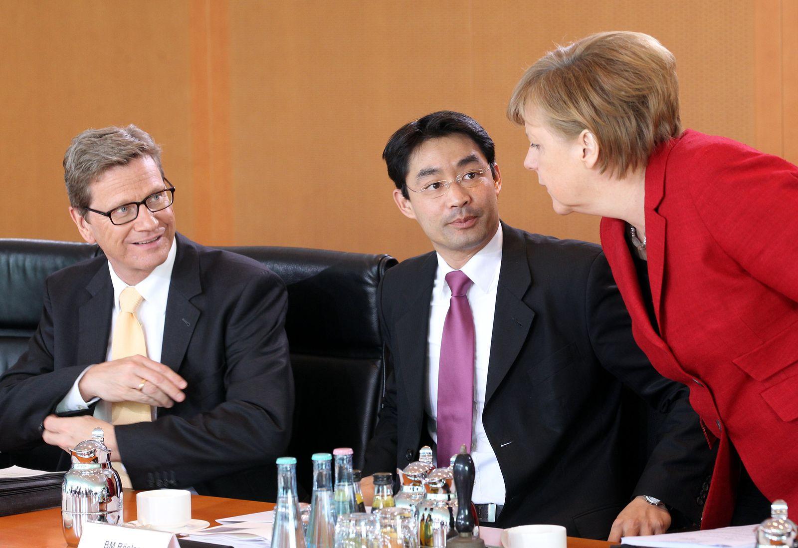 Kabinett - Westerwelle Merkel Rösler