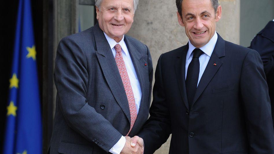 EZB-Präsident Trichet, Frankreichs Präsident Sarkozy: Europa braucht schärfere Kontrolle
