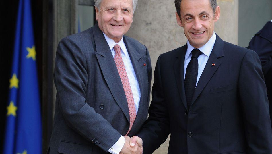 Sarkozy forderte, Trichet gab nach