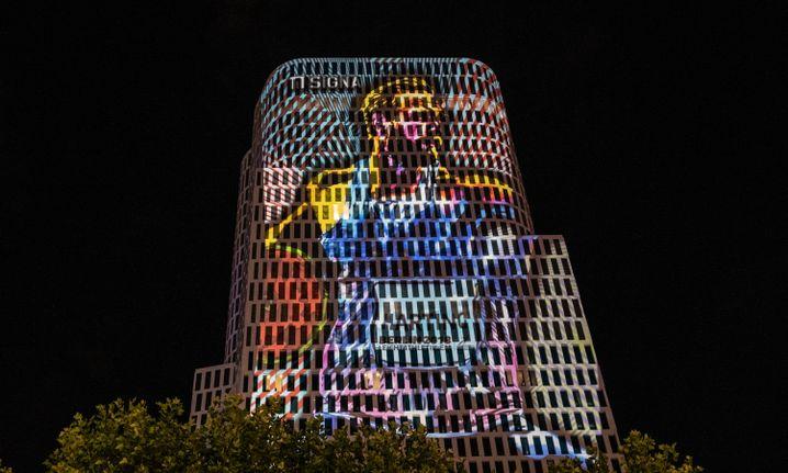 Projektion Hartings in Berlin