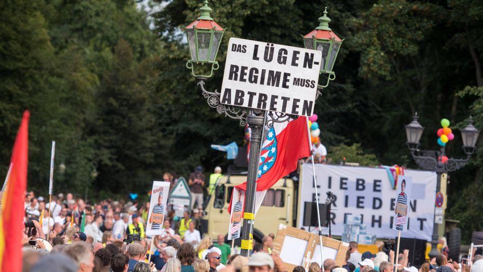 Demo in Berlin gegen Coronamaßnahmen (im Sommer 2020)