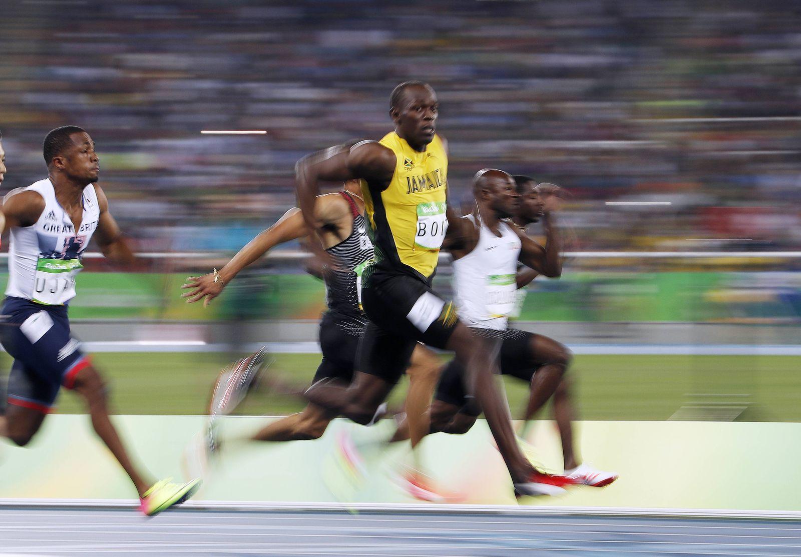 EINMALIGE VERWENDUNG SPIEGEL Plus SPIEGEL 48/2016 S.107 Usain Bolt STARTBILD