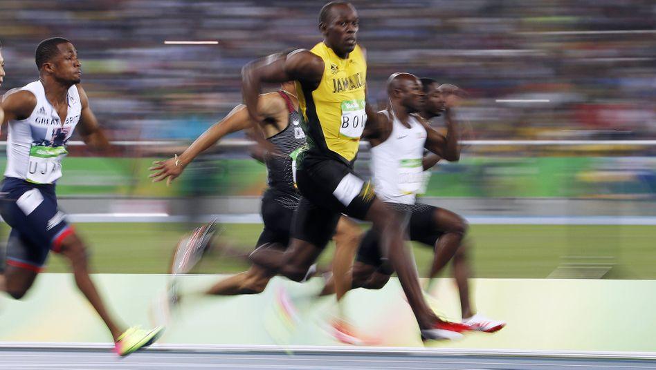 Sieger Bolt bei den Olympischen Spielen in Rio: Schmale Hüften, kräftige Sehnen