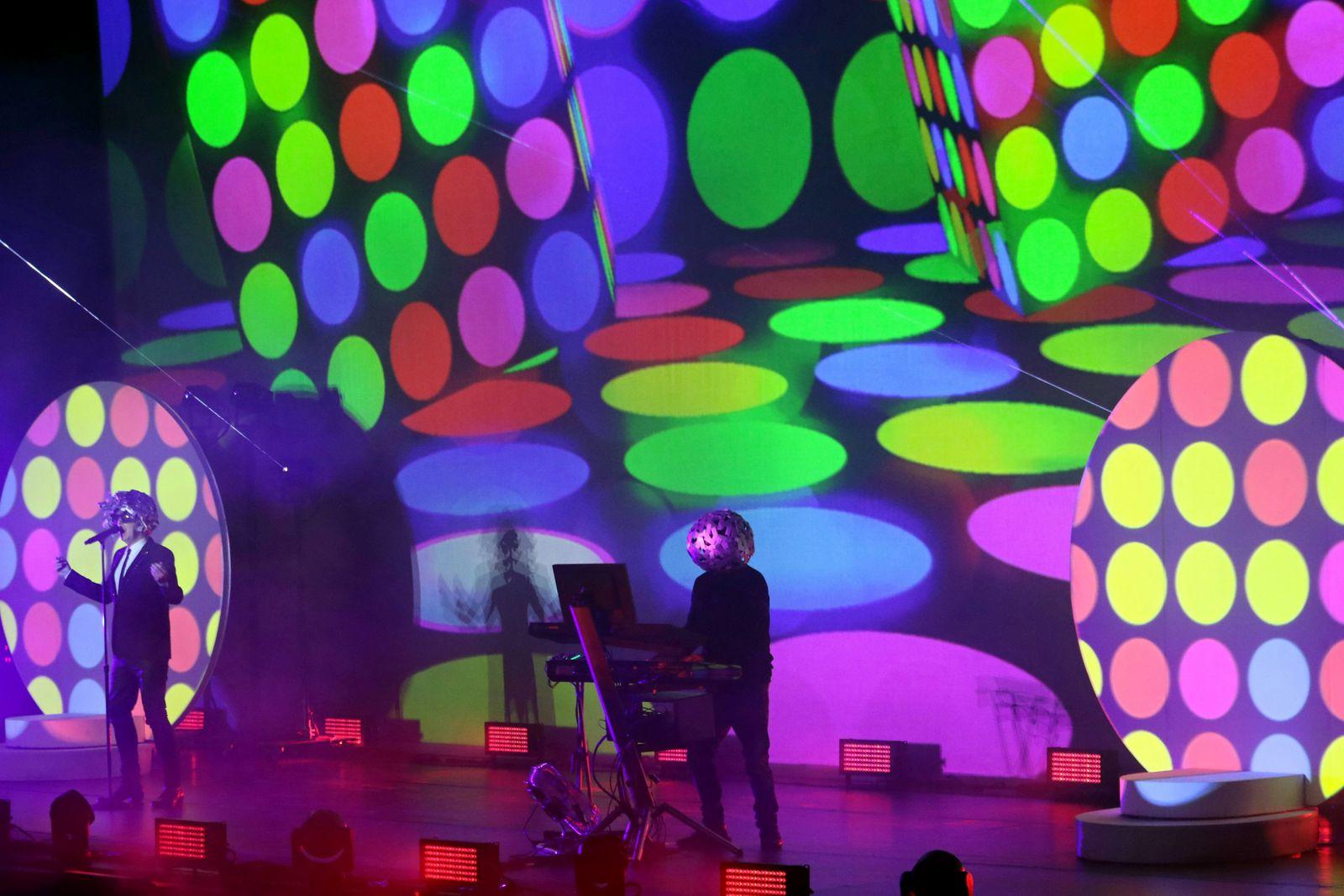 July 18 2018 Marbella Malaga Spain The British duo known as the Pet Shop Boys Neil Tennan a