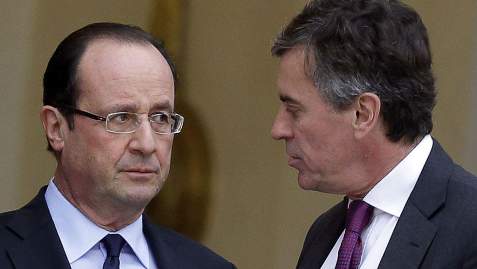 Präsident Hollande mit Ex-Budgetminister Cahuzac: Vertrauensverlust