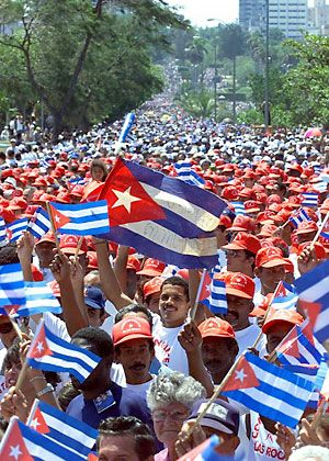 Hundreds of thousands of Cubans march during May Day celebrations: The leading Social Democrat in the European Parliament has said he will push the EU to lift sanctions against Cuba if the country agrees to allow Germany to open a non-government organization in Havana.