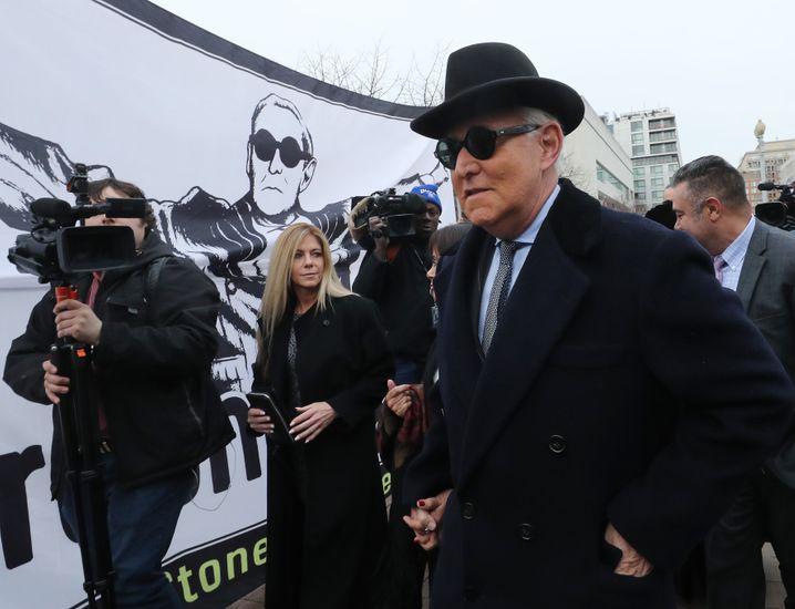 Trump-Vertrauter Roger Stone: 40 Monate Gefängnis