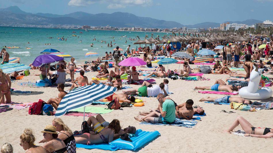 Strand in Palma de Mallorca