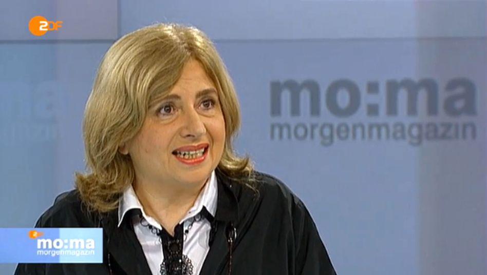 """Sibylle Lewitscharoff im ZDF-""""Morgenmagazin"""": Wenn ein scharfer Satz um die Biege kommt."""