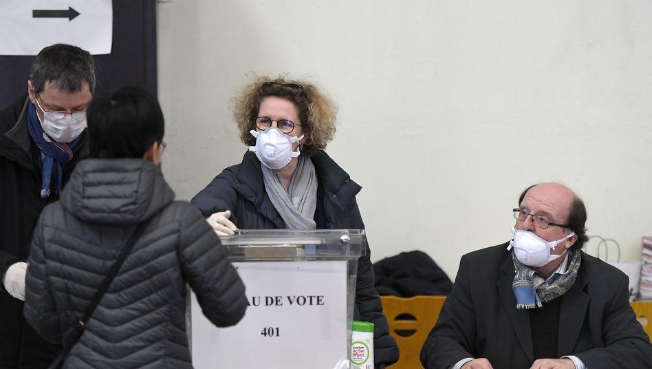 Wahllokal in Straßburg: Test für Präsident Macron