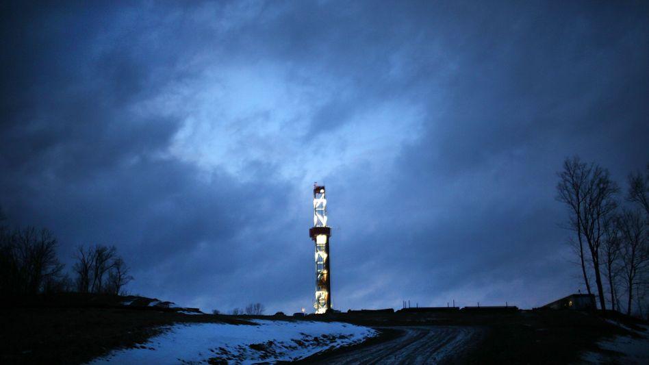 Bohrturm der Firma Cabot Oil & Gas in Pennsylvania