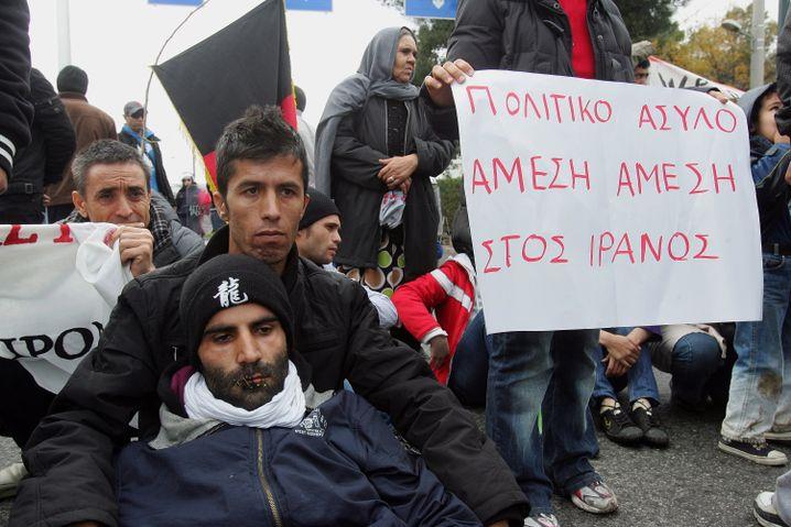 Asylbewerber in Athen: Die Drittstaatenregel ist für Deutschland positiv