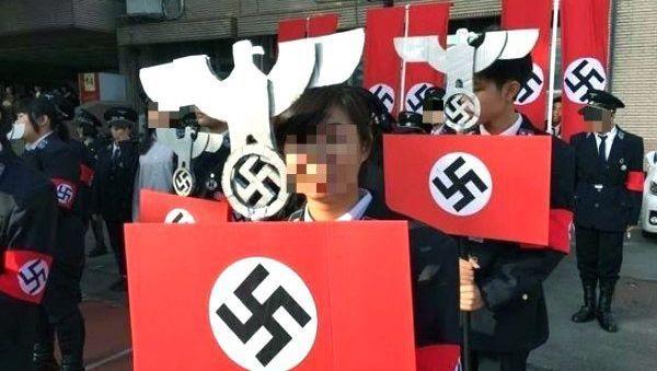 Schüler der Kuang Fu High School in Hsinchu, Taiwan