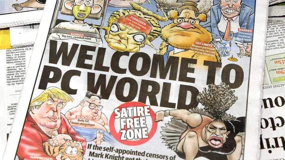 """Cartoon von Mark Knight aus der """"Herald Sun"""""""