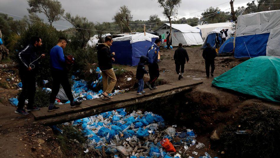 Migranten in einem Lager auf der Insel Lesbos: Bald noch viel mehr Menschen