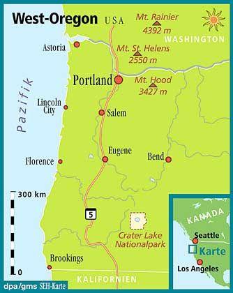 Im Nordwesten der Vereinigten Staaten: Oregon ist auch ein beliebtes Weinbaugebiet