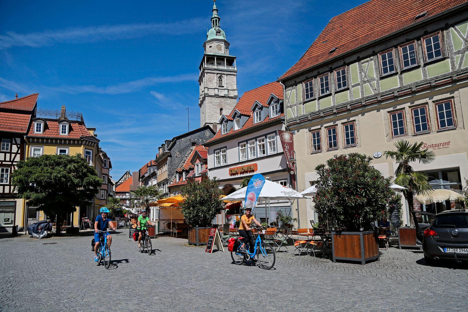 Deutschland; Thüringen; Unstrut-Radweg