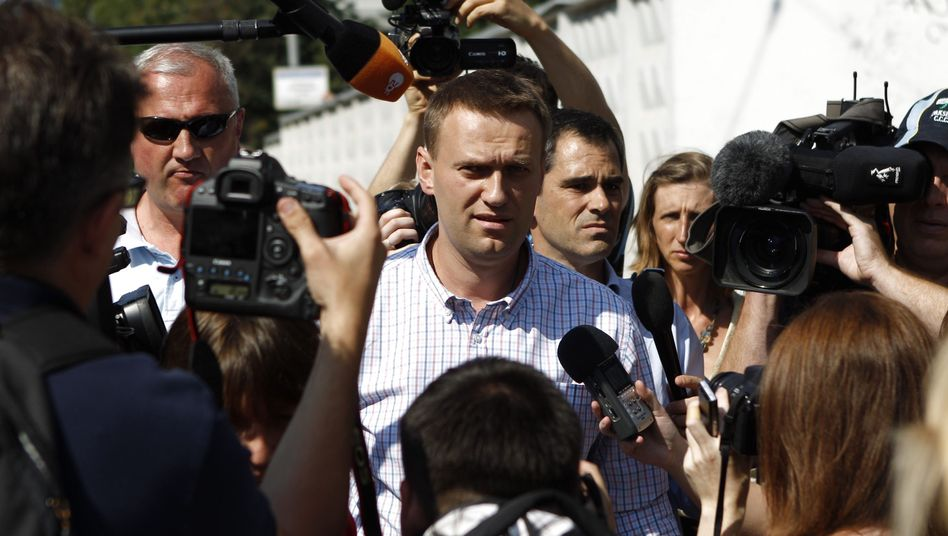 Der russische Blogger Alexej Nawalny: Angeblich Holzbetrieb um 25.000 Euro geschädigt