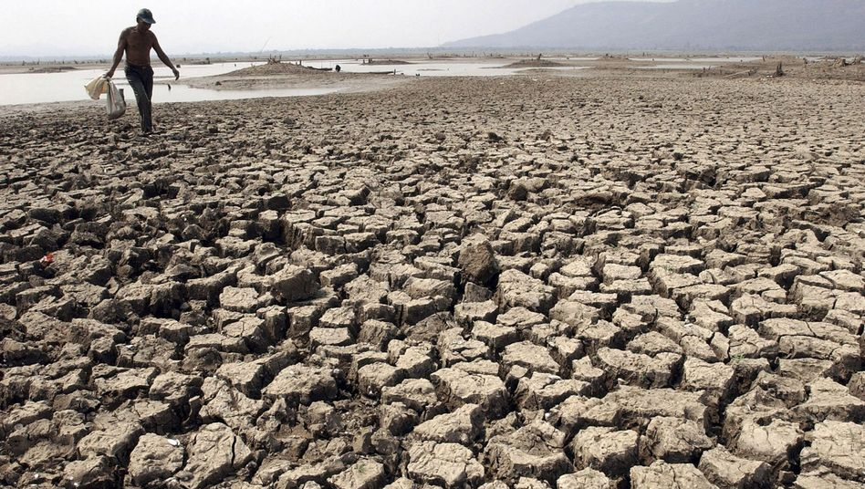 Ausgetrockneter Stausee in Thailand (2005): Schwierigkeiten beim Klimaschutz