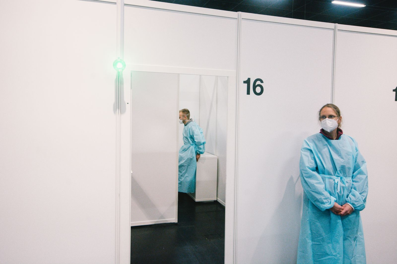 Press Preview Of Vaccination Center In Cologne