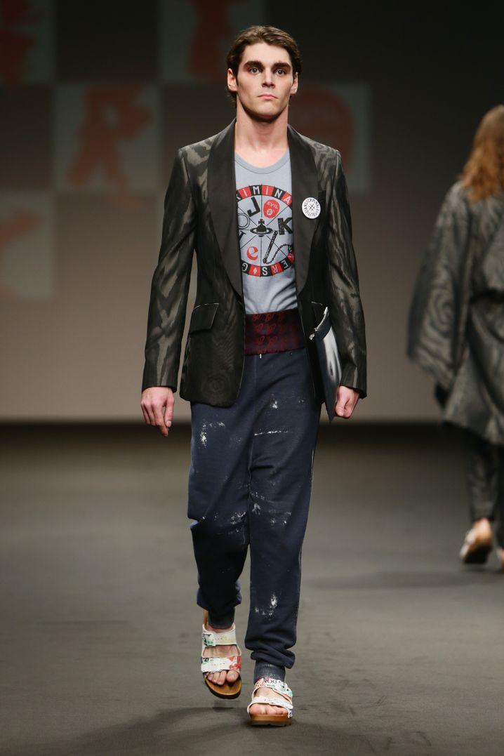RJ Mitte bei der Milan Fashion Week im Juni 2015