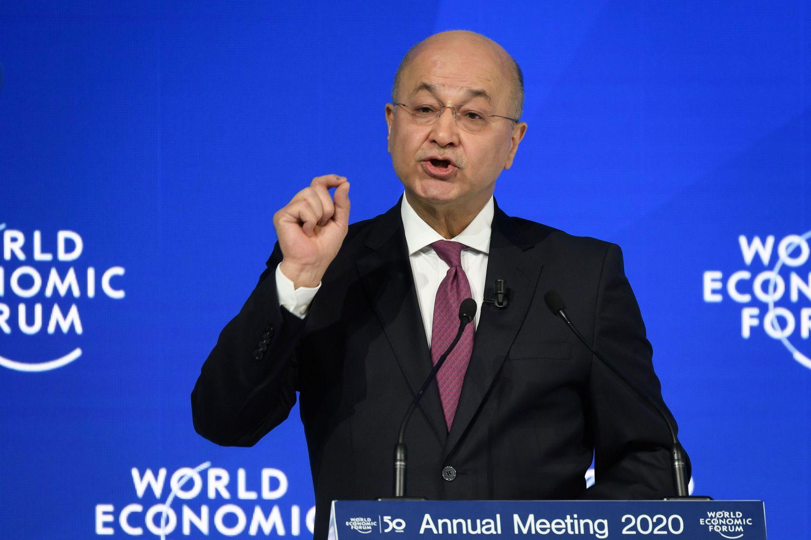 SWITZERLAND-IRAQ-POLITICS-ECONOMY-DIPLOMACY-DAVOS-WEF