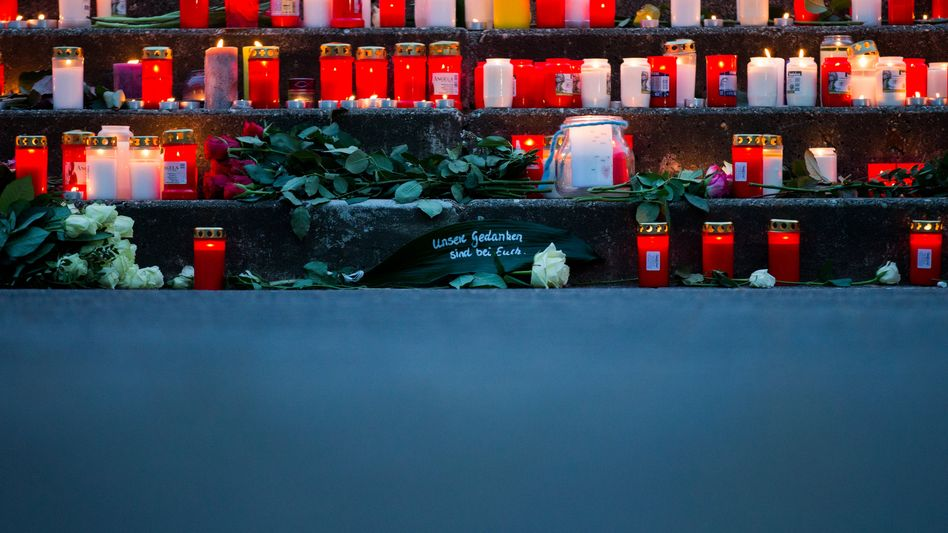 Candles are lit at the high school that lost 16 students and two teachers in Tuesday's crash of a Germanwings flight between Barcelona and Düsseldorf.