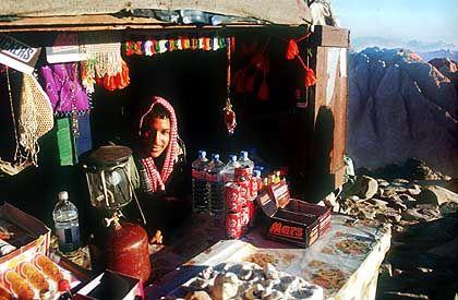 Kiosk auf dem heiligen Berg: Gestärkt mit Cola und Kaffee geht's wieder abwärts