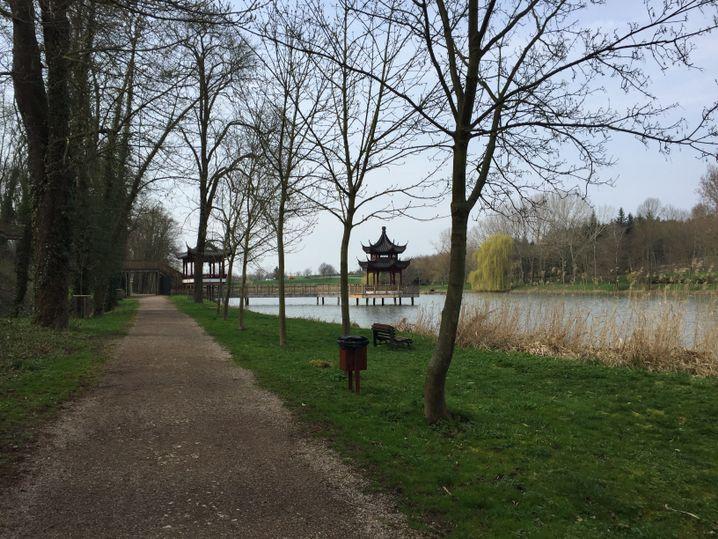 Pagoden in Thüringen: Hier geht's zum chinesischen Garten.