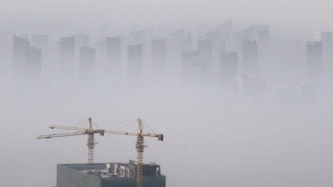 Smog in der nordchinesischen Stadt Shenyang