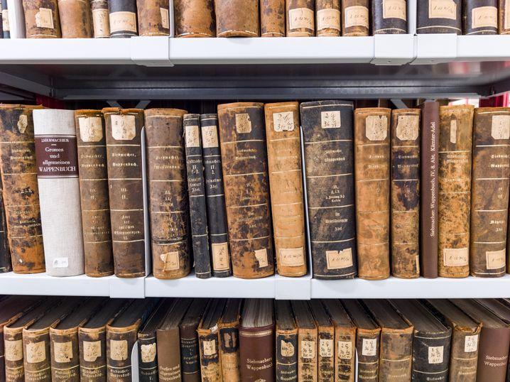 Bücher im Staatsarchiv Leipzig