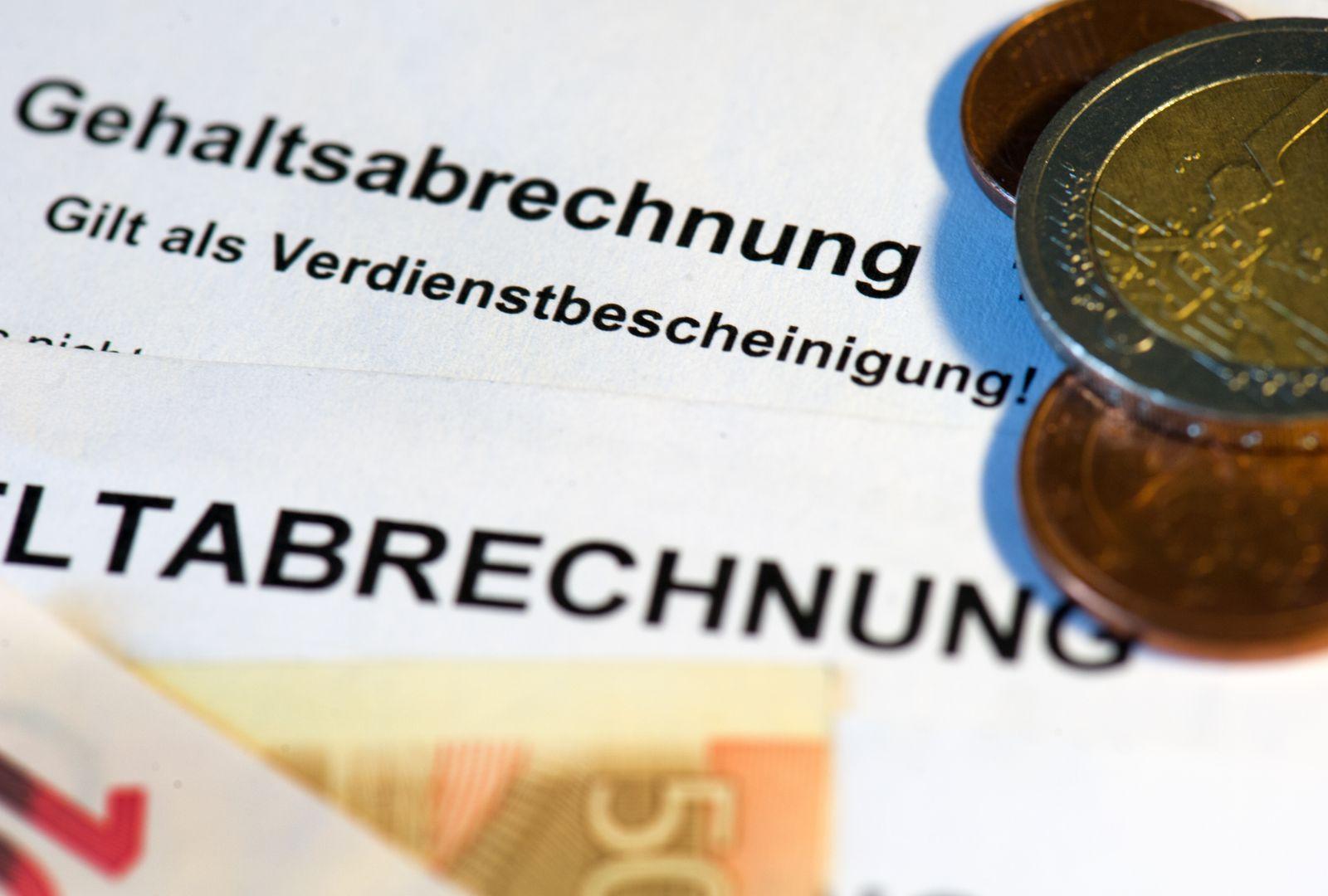 Gehaltsabrechnung / Verdienstbescheinigung / Lohn / Gehalt