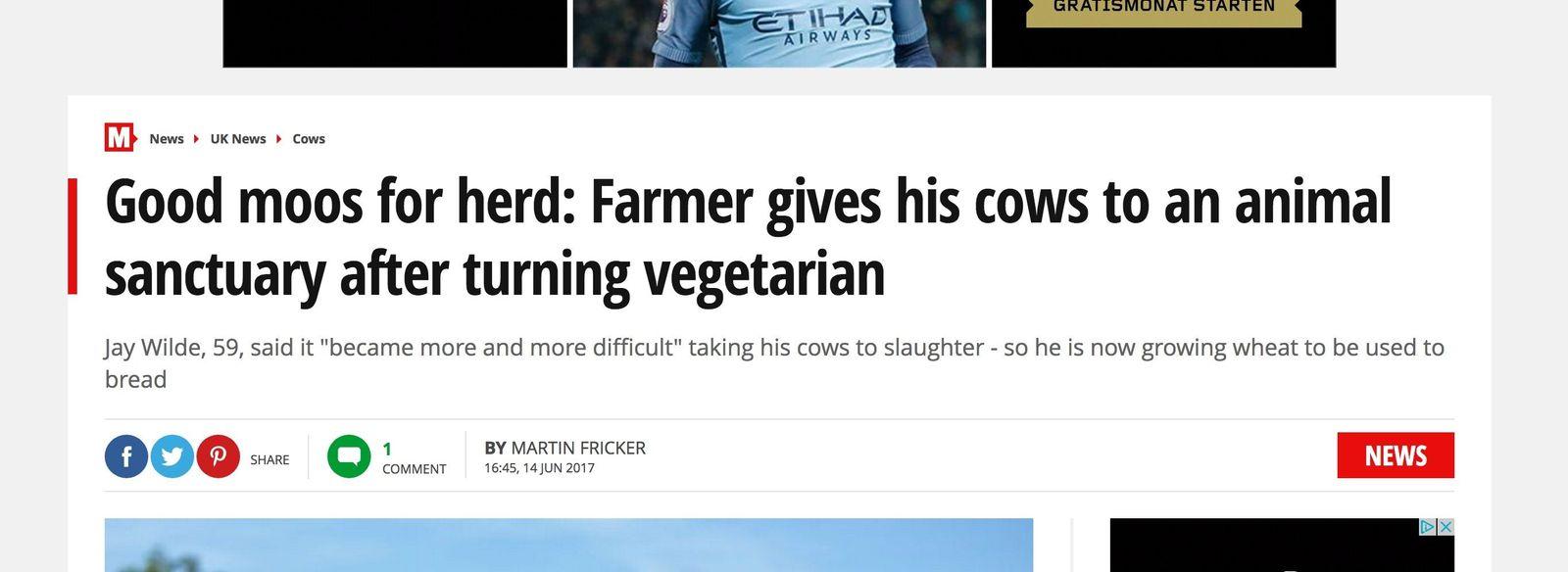 """SP 37/2017, S.57 """"The Mirror"""" Vegetarier Landwirt"""