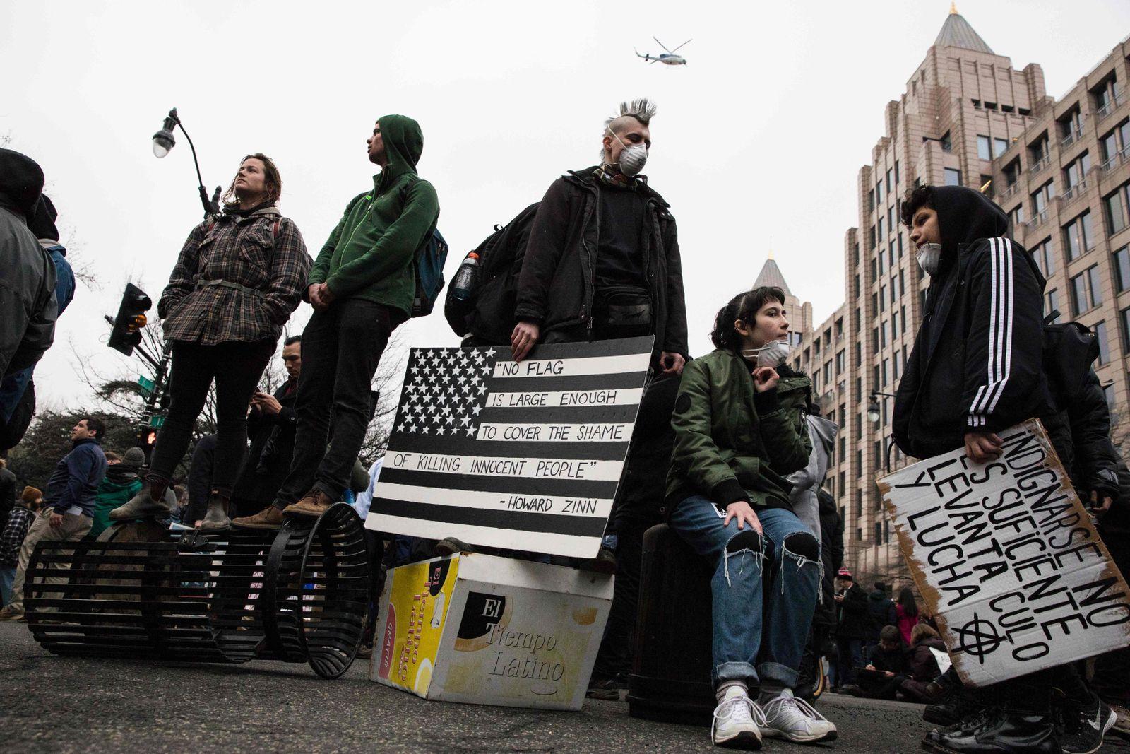 Trump/ Proteste/ 20. Januar