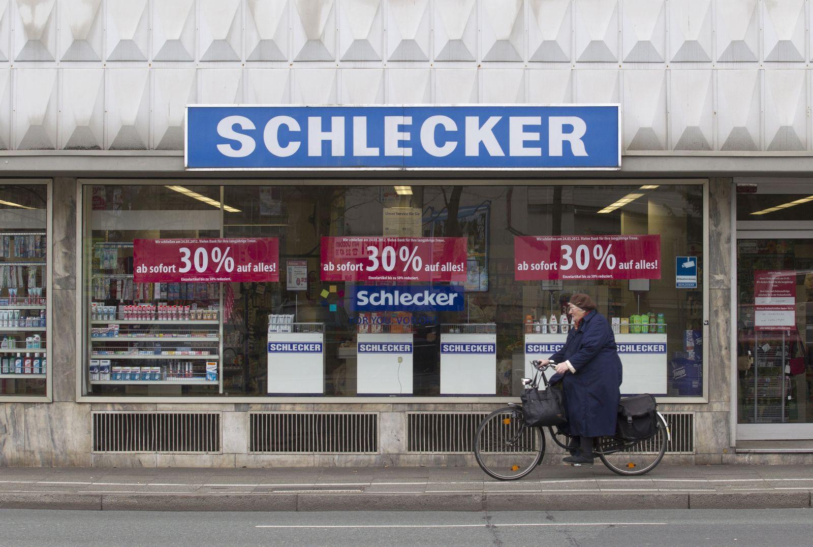 NICHT VERWENDEN Schlecker-Filiale