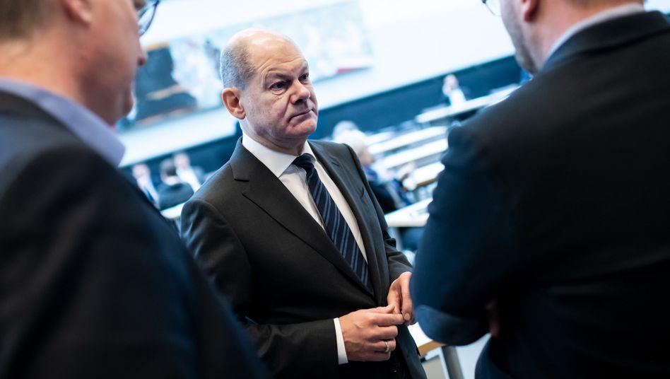 Finanzminister Olaf Scholz, hier bei Gesprächen in der SPD-Fraktion