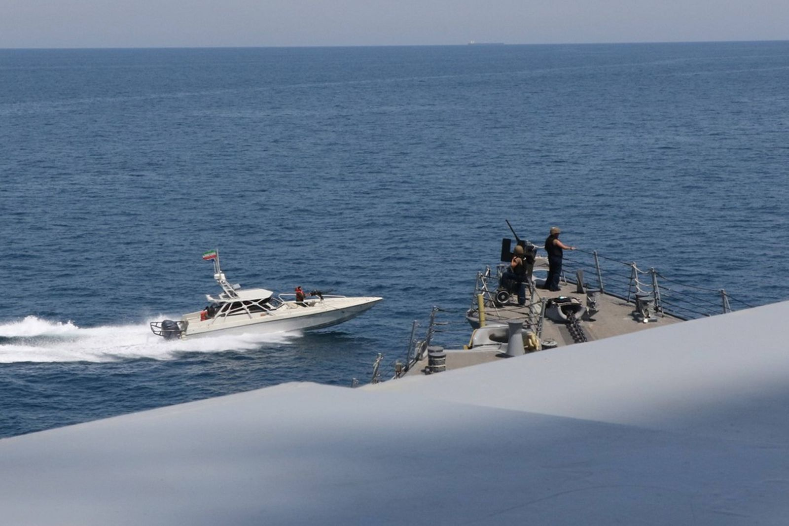 Iranian Islamic Revolutionary Guard Corps Navy (IRGCN) vessels conducted unsafe and unprofessional actions against U.S.