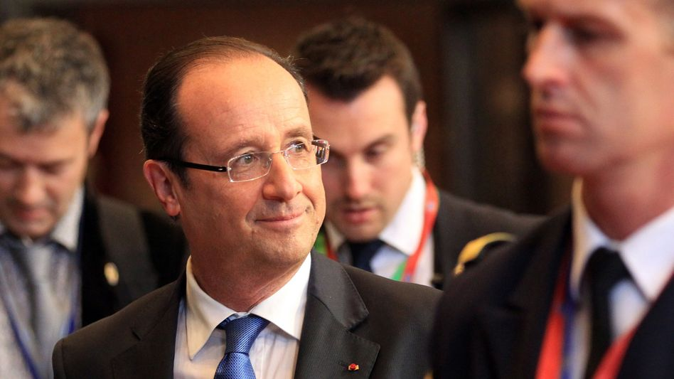 French President François Holland at the end of the informal EU summit in Brussels.