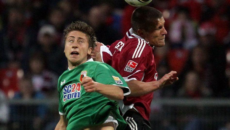 Nürnbergs Eigler (r.): Siegtreffer gegen den FC Augsburg erzielt