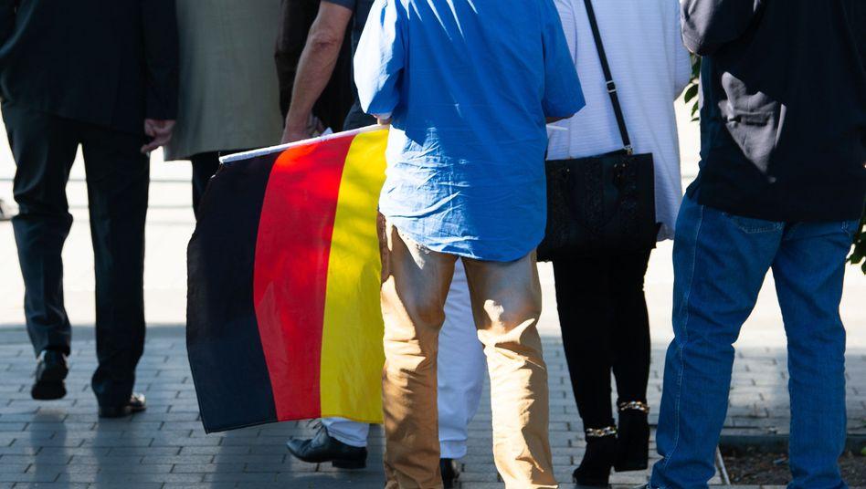 """Teilnehmer der AfD-""""Flügel""""-Tagung am Samstag im thüringischen Leinefelde"""
