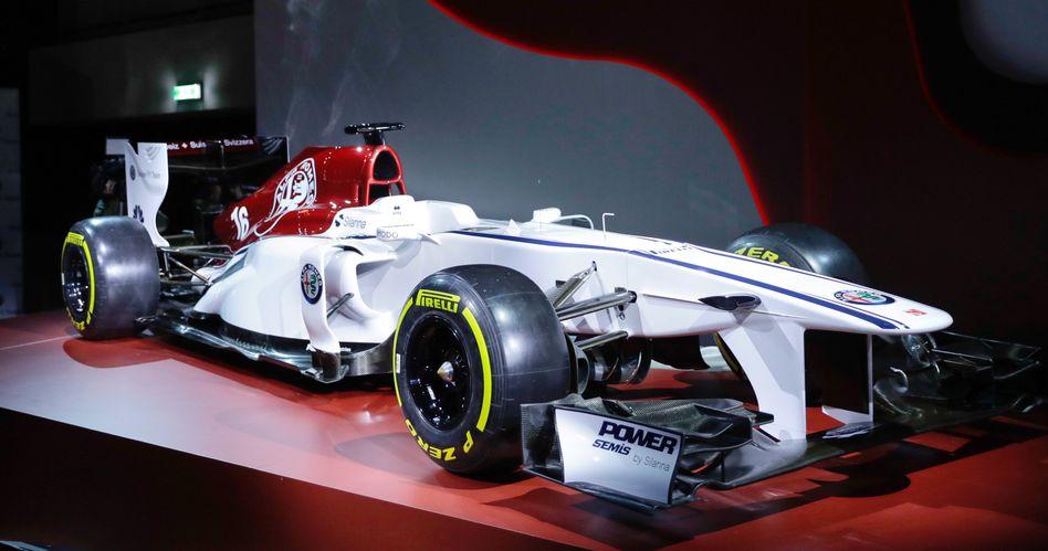 Der Formel-1-Rennwagen Alfa Romeo Sauber