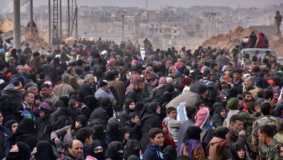 Flüchtlinge in Aleppo